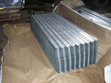 China SGCH , SGCC, G550, JIS G3302 steel spangle Galvanized Corrugated Roofing Sheet / Sheets distributor