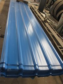 China 1500 - 3800mm Length JIS G3322 CGLCC, ASTM A792 Prepainted Corrugated Steel Roof Sheets distributor